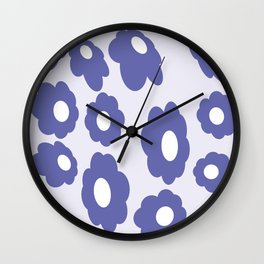 60s 70s Remastered. Hippy Flowers. Lilo Wall Clock
