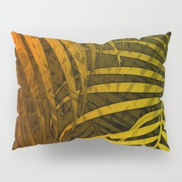 TROPICAL LEAVES GREEN MOCCA no1 Pillow Sham
