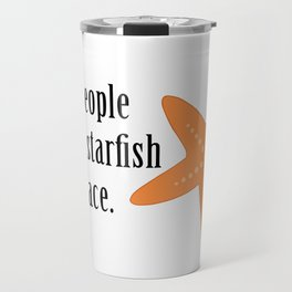 Starfish in the Face - The Little Selkie Travel Mug