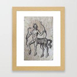 The Centaur of the Folóï Oak Forest Framed Art Print
