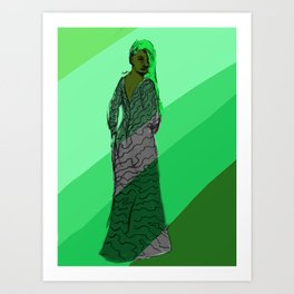 Ms Magnet Art Print