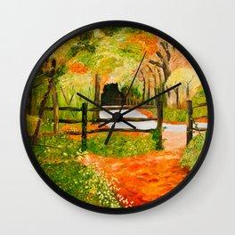 Newtown Creek Copse Wall Clock