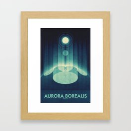 Earth - Aurora Borealis Framed Art Print