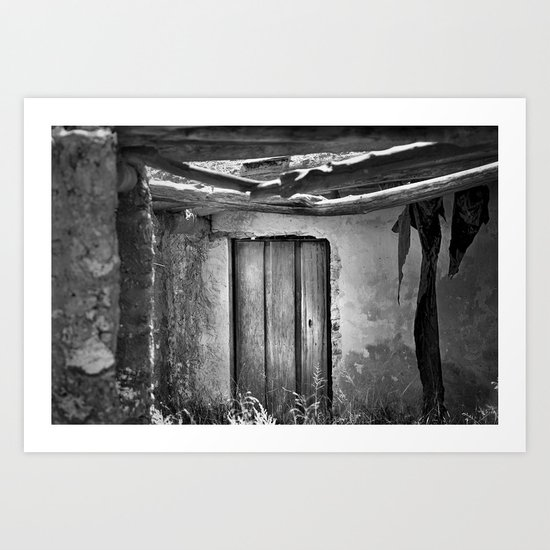 the forgotten secrets of the mountain house in ruins Art Print