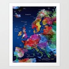 Europe Art Print