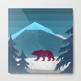 Bear pride walk Metal Print