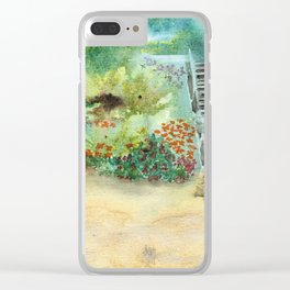 My happy place Clear iPhone Case