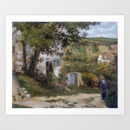 Camille Pissarro - Rue de la Côte-du-Jalet, the 'Rondest House', Pontoise Art Print