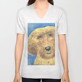 Goldendoodle Puppy Love Unisex V-Neck