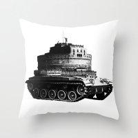 kafka Throw Pillows featuring Kafka Tank by paragraph