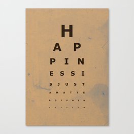 Happiness (2) Canvas Print