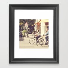 Riding Framed Art Print