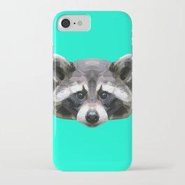 Raccoon // Mint iPhone Case