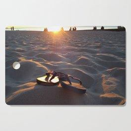 Flip Flops On The Beach Cutting Board