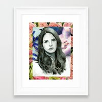 ultraviolence Framed Art Prints featuring ULTRAVIOLENCE by Jethro Lacson