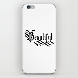 Beautiful Lettering Gothic iPhone Skin