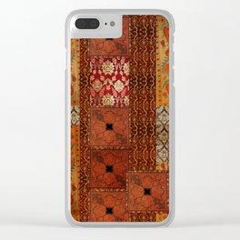 Vintage textile patches Clear iPhone Case
