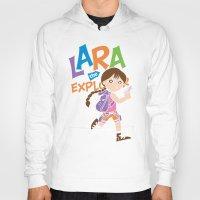 megan lara Hoodies featuring Lara the Explorer by Gimetzco's Damaged Goods