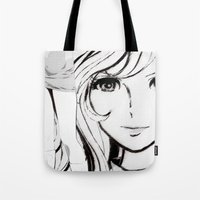 sketch Tote Bags featuring SKETCH by Chandelina
