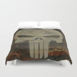 Apocalyptic Punisher painting Duvet Cover