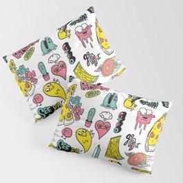 Weirdo Pizza Donut Sword Skull Pattern Pillow Sham