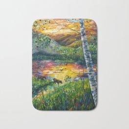 Sleeping Meadow  - Colorado Moose Crossing  Bath Mat