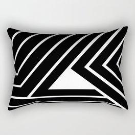 Modern Me Plain Black Rectangular Pillow