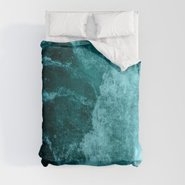 Blue Pacific Ocean Waves Comforters
