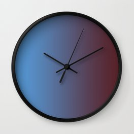 Colorful Gradient Blue 2 Wall Clock