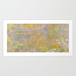 Monet, Water-Lilies (yellow) after 1920-1926 Art Print