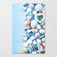 shells Canvas Prints featuring SHELLS by Ylenia Pizzetti