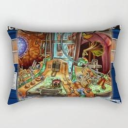 It's bigger on the inside Rectangular Pillow