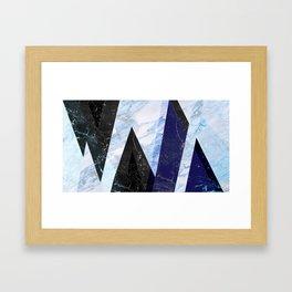 Marble stone ( frozen ) Framed Art Print