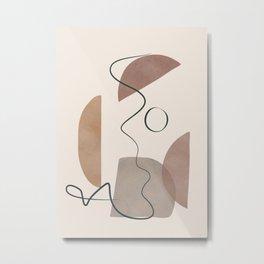 Minimal Abstract Shapes No.62 Metal Print