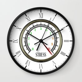 Stress Meter Wall Clock