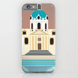 Vienna, Austria - Skyline Illustration by Loose Petals iPhone Case