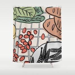 Sunday Table Shower Curtain