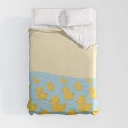Rubber Duckie Army Duvet Cover