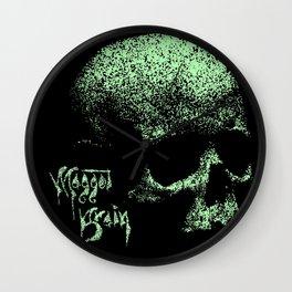 Maggot Brain Skull Wall Clock
