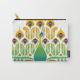 Java Green Peacock [Pavo Muticus] Carry-All Pouch