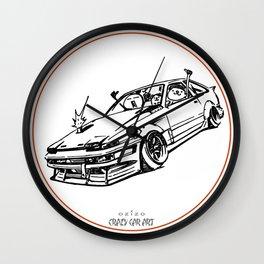 Crazy Car Art 0008 Wall Clock