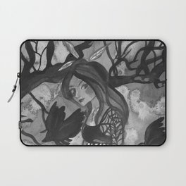 Raven Witch - Black & White Laptop Sleeve