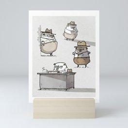 Ketch Fetchum, Pug Private Eye Mini Art Print
