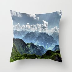 Mountain Peaks in Austria Throw Pillow
