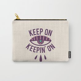 Keep On Keepin' On Ivory Carry-All Pouch