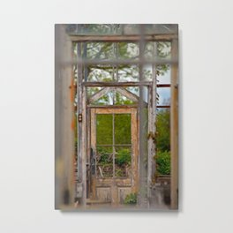Thru Times Window Metal Print