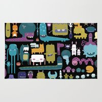 monsters inc Area & Throw Rugs featuring MONSTERS by Super Ama