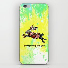 Happy Easter Rabbit - Keep Runing with You iPhone Skin