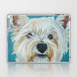 Jesse the Beautiful West Highland White Terrier Dog Portrait Laptop & iPad Skin