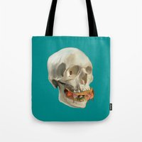 taco Tote Bags featuring Death By Taco by Fontolia (Katie Blaker)